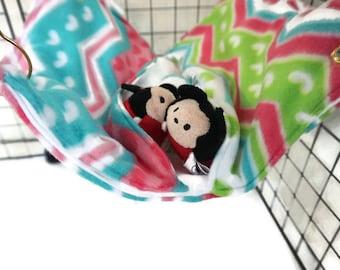 Chevron rat hammock, rat bed