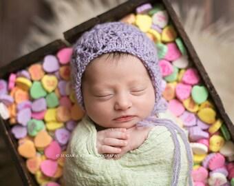 Lace Bonnet Pattern / Elizabeth Diamonds Bonnet / Newborn Baby Bonnet