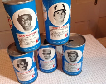 Vintage RC Cola Baseball Cans, 70' collectible cans, ball cans
