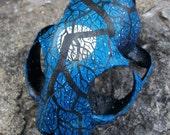 Starry Night Painted Bobcat Skull