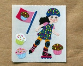 Sandylion Cupcake Girl Scratch & Sniff Stickers