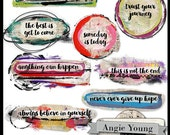 Speak It Word Art #17 - Digital Art Supplies By Angie Young