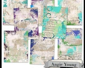 Journal It Papers Set #21 - Digital Art Supplies By Angie Young