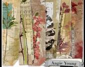 digital collage sheet page edges printable elements art supplies art journal journaling mixed media vintage collage it borders set #3