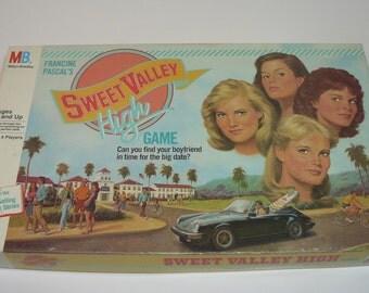 Sweet Valley High Teenage Date Night Suspense Board Game – Milton Bradley 1988