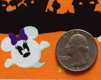 Halloween disney Mickey and Minny ghost mouse  orange colour