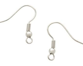 50 Ear Wire EARRINGS Silver Tone H574