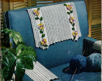 1954 Star Chairback Book No. 105 - Crocheted Chairbacks , Church Lace and Shade Pulls