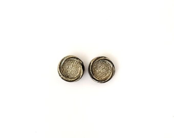 2 Silver Buttons, Vintage Button