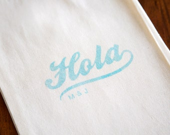 "Wedding Welcome Bags - ""Hola"" Welcome Bags - Choose Your Color"