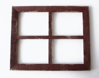 """2"""" 5x7 Barn Window Collage Picture Frame-Ivory Frame-Rustic Picture Frame-Reclaimed-Cottage Chic-Collage Frame-Picture Frames"""