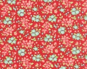 Hello Darling Red Wildflowers by Bonnie & Camille for Moda