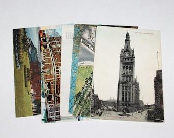 8 Vintage Milwaukee Wisconsin Postcards Used