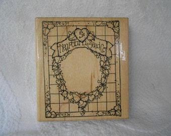 Large Heartland Seed Company Rubber Stamp - Dots - I 48- Never Used - Ready to Ship