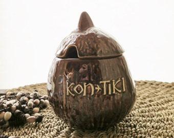 Vintage Kon Tiki Condiment Coconut Restaurant Ware Pottery