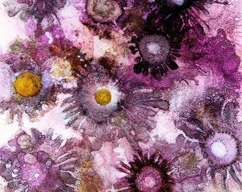 Alcohol Ink Print, Alcohol Ink Painting, Abstract Art Work, Purple Wall Decor Art, Boho Decor, Hippy Art Print, Abstract Art, Whimsical Art