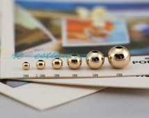 10 pcs 14K-gold Filled Sterling Silver Round Beads, S925 Bead Spacers, Allergy Free Fittings 22200064551
