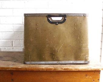 Vintage Kennett Fibre Board Industrial Factory Storage Bin