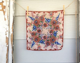 Fall Colors Vintage Handkerchief • Vintage Hankies • Vintage Hanky • Hankies • Hanky