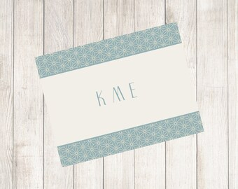 Deco Web Monogrammed Note Cards
