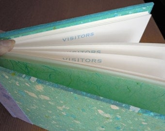 Seafoam and Turquoise Visitors Book