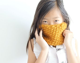 Knit Children's Cowl Loop Scarf in Apricot // THE KIDDIE COWL