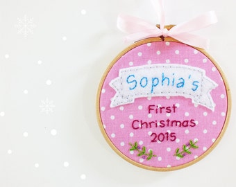 Personalized christmas ornaments, Christmas Tree Ornaments, Personalized christmas gift, Baby's First Christmas ornament, baby keepsake