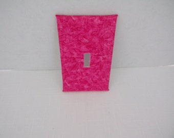 Pink Heathered One Toggle Light Switchplate Cover