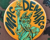 """Mac Demarco 3"""" NYC Tour Statue of Liberty button"""
