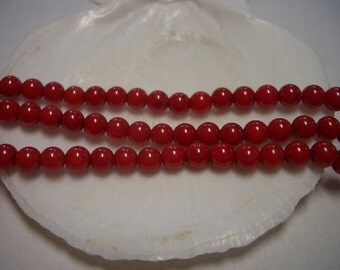 Natural Coral beads, red, 3mm round, tiny Coral beads, round, dainty 2-3mm beads, fire red, 3mm gemstone beads, delicate red coral beads