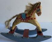 Dollhouse miniature rocking horse, scale 1/12