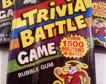 80s Trivia Battle Game/ Trading Cards