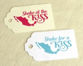 "Shake for a Kiss Maracas Tag - Shake at the Kiss - Mexican Wedding - Luggage Tag Destination Travel - Choose Color - 2.75"" x 1.75"""