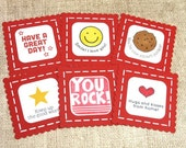 Lunch box notes, set of 12, mini cards, kids notes, school notes