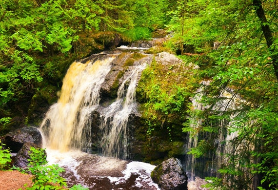 Misty Green Forest Nature River Beautiful 1ziw: Nature Photography Amnicon Fallswaterfallwaterfallsamnicon