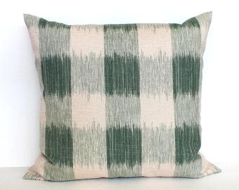 Green Pillow Cover Plaid Pillow Check Pillow Decorative Pillow Throw Pillow Cover Euro Sham 26x26 24x24 22x22 20x20 18x18 16x16