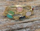 Gold Bangle Bracelet / Stacking Bangle / Layering Bangle / Bridesmaid Gift / Bridesmaid Jewelry / Bridesmaid Bracelet / Choose Color