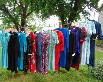 MEGa CLEARANCE was 74.44 17 pc wholesale Women's vintage Clothing Lot 80s SECRETARY DRESSES S M L ...#9