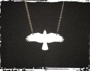 Necklace (white raven)