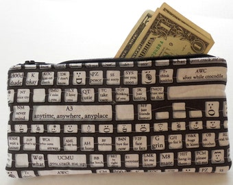 Text keyboard Zipper Bag-Free Shipping to US and Canada