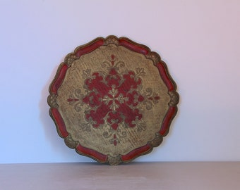 Pretty French Vintage Decorative Drinks Tray Florentine Tray Shabby Chic, Cottage Chic