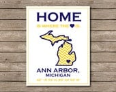 University of Michigan Printable, Ann Arbor, Michigan Wolverines Art Print Go Big Blue