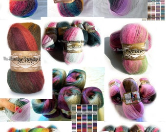 Alize Angora Gold Batik. Selfstriping Yarn. Alize yarn. Mohair yarn. Set of 5 skeins. Wholesale. DSH