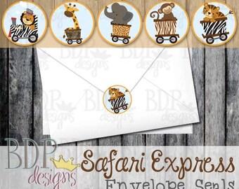 """Safari Express 1"""" Envelope Seals (Starts in Set of 30)"""