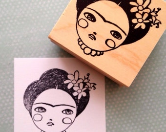 Frida With Wings Rubber Stamp 6559 From 100proofpress On