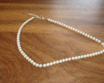 vintage necklace choker faux pearls