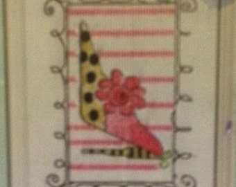 "Counted Cross Stitch Mini Kit ""Party Shoe"" Dress Up © Dena's Closet™ New"