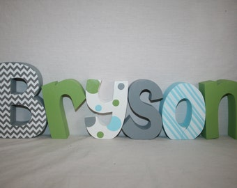 baby boy nursery letters name letters 6 letter set personalized wood letters 15 thick wood letters freestanding wood letters wood name