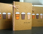 Autumn Thank You Cards, Thanks a Latte Thank You Notecards Set of 3, Coffee Cards, Fall Cards
