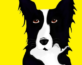 Bob The Border Collie - Digital download - 16X20